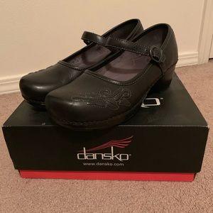 Dansko Savanna Black Leather Mary Janes
